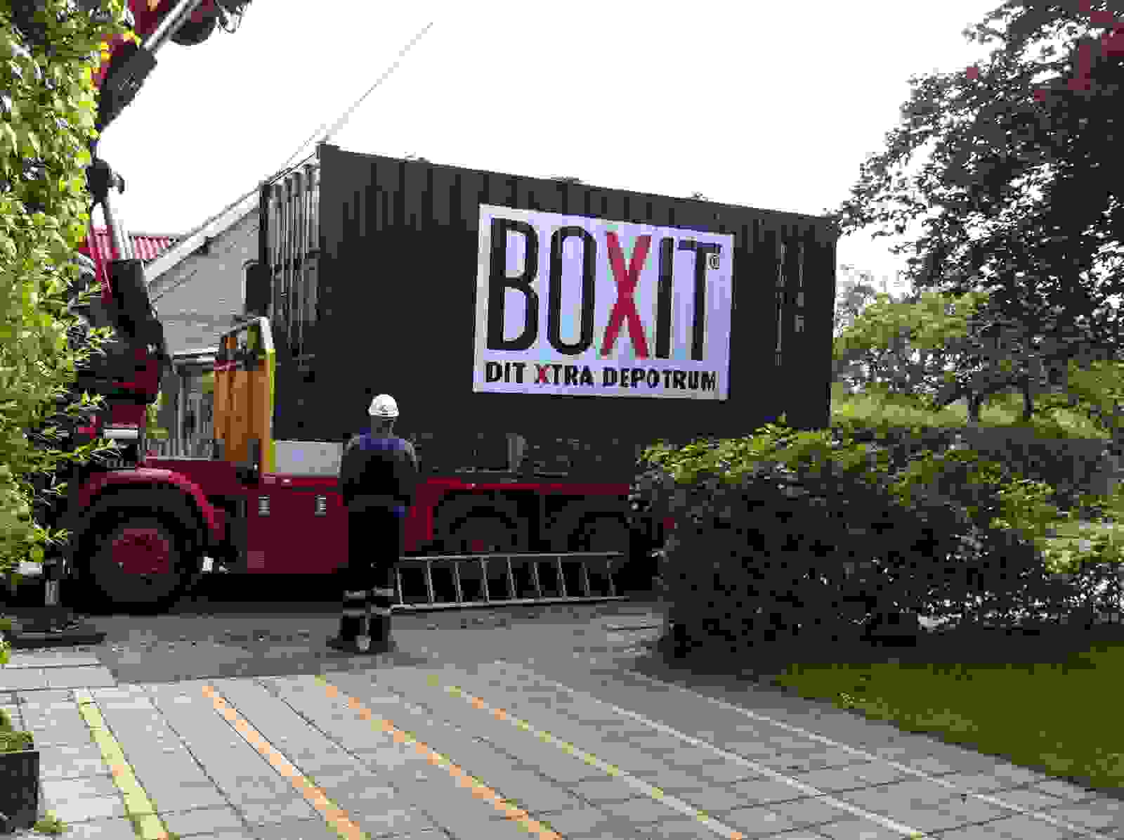 Levering af container hos private